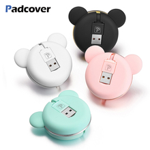PADCOVER 2 In 1 Retractable USB Cable for Samsung Xiaomi Mi Android Micro Port Charging and Data Transfer Huawei LG Oppo