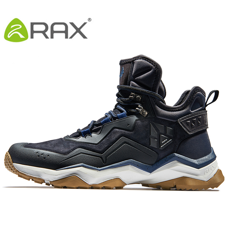 RAX Mens Waterproof Hiking Shoes Mountain Hiking Boots Genuine Leather Men Breathable Waterproof Trekking Shoes Outdoor Man kelme 2016 new children sport running shoes football boots synthetic leather broken nail kids skid wearable shoes breathable 49