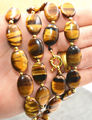 13x18mm GENUINE NATURAL TIGER EYE GEMS STONE OVAL BEADS NECKLACE 20inch