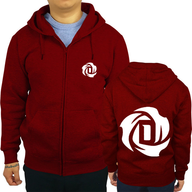 Men Personality Zipper Sweatshirt Male Hoody Tracksuit Derrick Rose Rose  Mens Autumn Winter Hoodie 21c3b96f760f