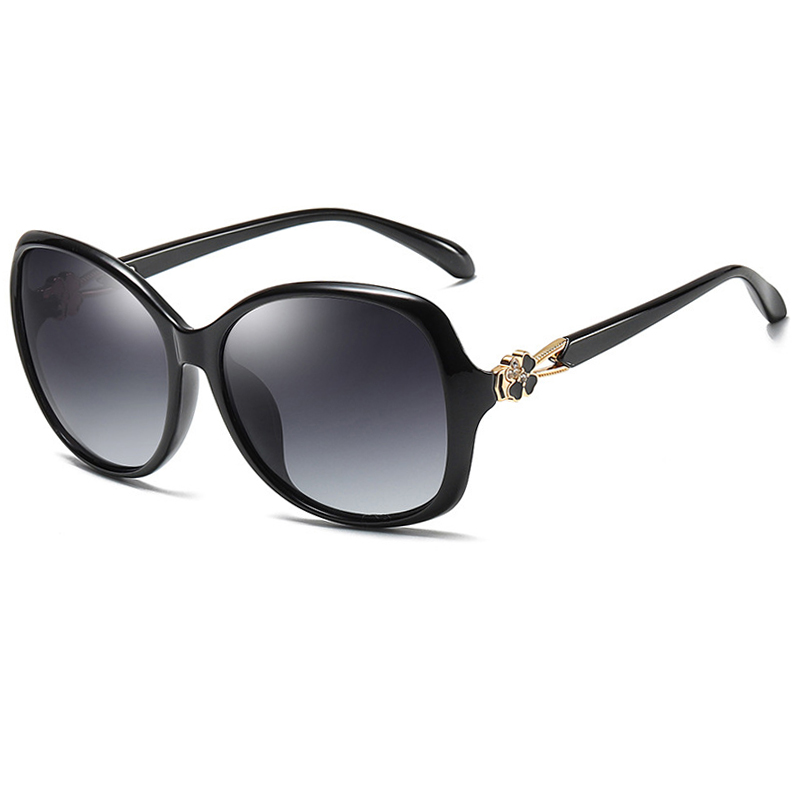 Transparent Red Channel Sunglasses Women Fashion Polarized Sun Glasses For Ladies