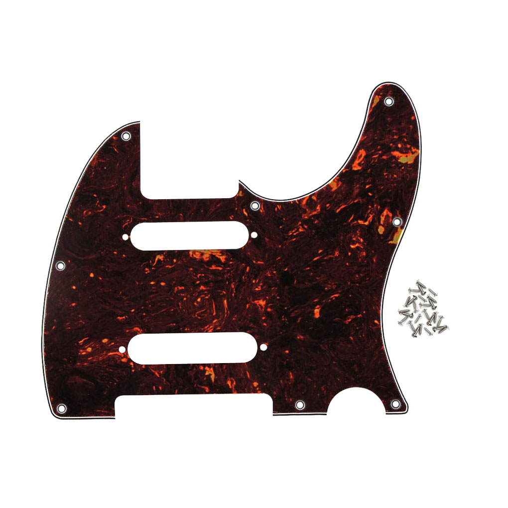 8 holes 4ply tele guitar pickguard scratch plate with screws for nashville tele style brown. Black Bedroom Furniture Sets. Home Design Ideas