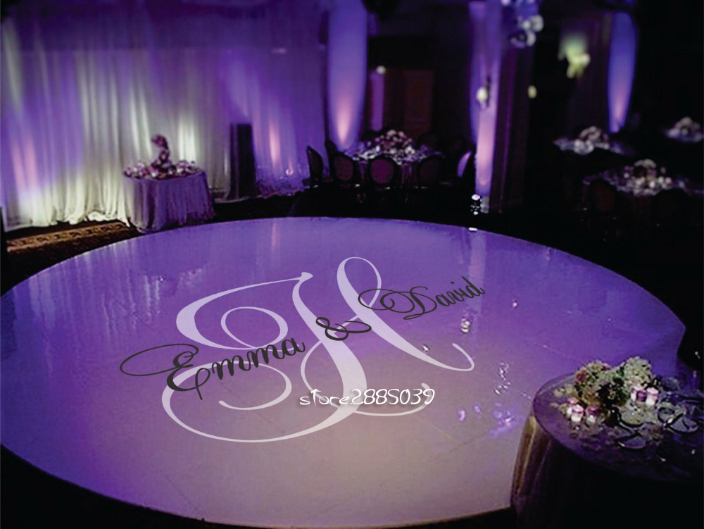 Personalised Bride Groom Name Floor Stickers Design