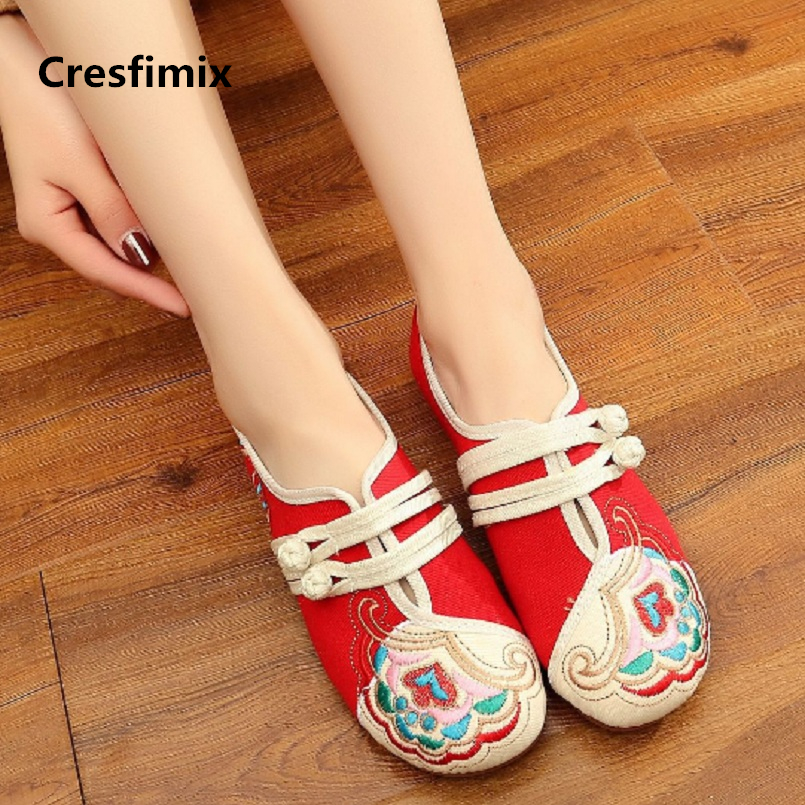 Women Fashion Sweet Comfortable Canvas Flat Shoes Lady Cool Spring Buckle Strap Anti Skid Shoes Lady Cute Street Shoes E2210
