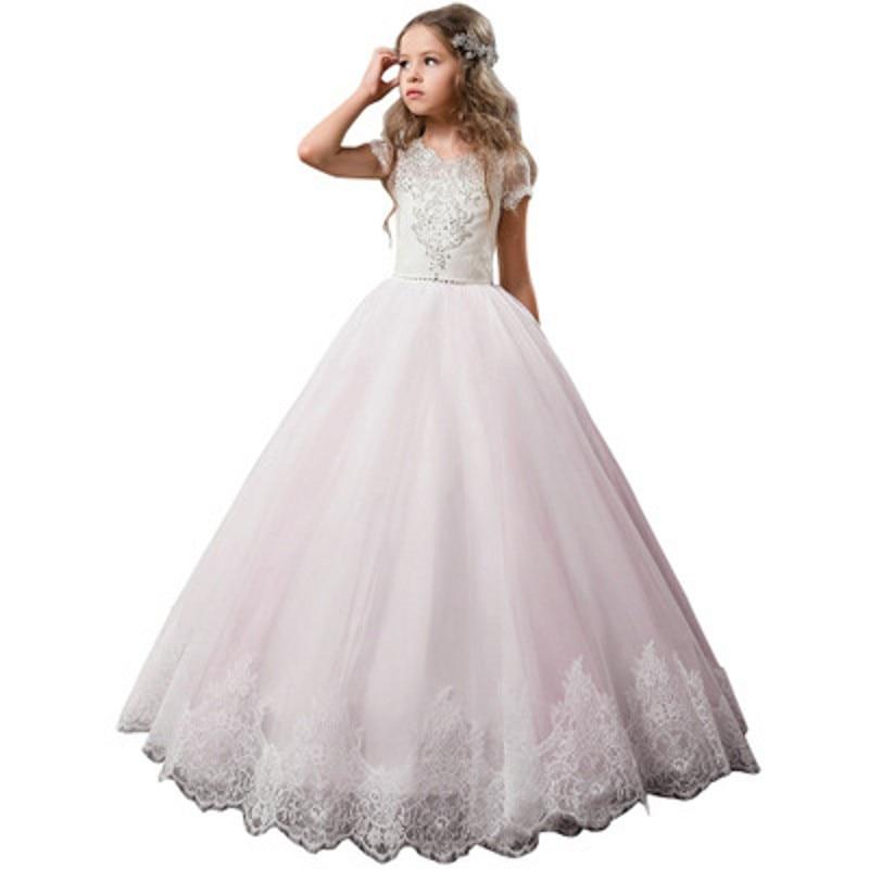 Girls Evening Party Dress 2019 Wedding Kids Dresses For Girls Children Carnival Costume Princess Dress Floor