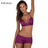 2017 Plus Size Swimwear Women High Waist Bikini Set Push Up Swimsuit Solid Beach Wear Biquini