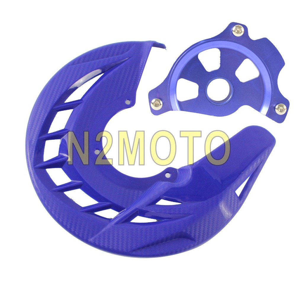 Front Brake Disc Guard Case Cover Protector Yamaha YZ250F YZ450F YZ250FX YZ450FX Orange