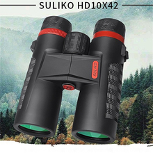 купить SULIKO HD10x42 Optical Telescope Night Vision Binoculars High Clarity binocular Spotting scope Hunting sports large eyepiece по цене 6447.99 рублей