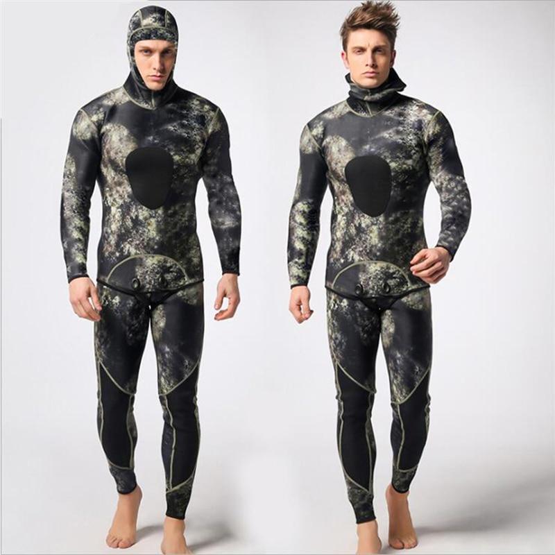 Mężczyźni 3mm neoprenu kombinezon dwuczęściowy kombinezony - Ubrania sportowe i akcesoria - Zdjęcie 2