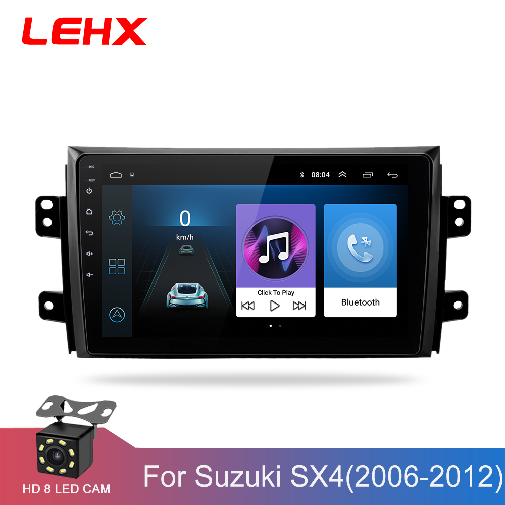 LEHX 2.5D IPS Screen Car Radio Player For Suzuki SX4 2006 2007 2008 -2011 2012 2Din Android 8.1 Multimedia GPS Navigation Player