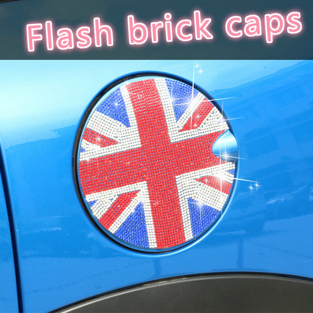 For bmw mini cooper f56 f55 r56 r55 r60 sticker union jack oil tank decoration drill