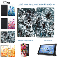 MTT Aquarelle Case For New Amazon Kindle Fire HD 10 2017 10 1 Tablet Case For