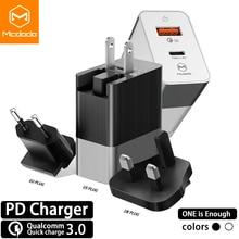 Mcdodo 18W USB C PD Charger EU/US/UK Plug 3 in 1 Triple Universal Travel