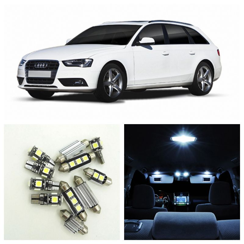 17pcs White Canbus Car LED Light Bulbs Interior Package Kit For 2009-2013 Audi A4 B8 Avant Map Dome Door License Plate Lamp 2pcs 12v 31mm 36mm 39mm 41mm canbus led auto festoon light error free interior doom lamp car styling for volvo bmw audi benz