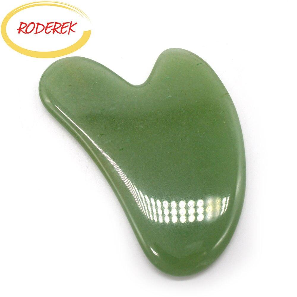 Aventurine jade guasha placa natural jade pedra raspador chinês gua sha ferramentas para cuidados de saúde do corpo