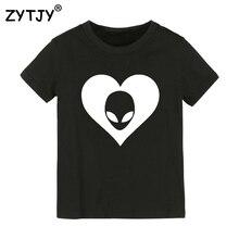 Сердце чужой принт детская футболка для мальчиков и девочек одежда малышей Забавные футболки Прямая поставка Y-25