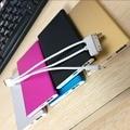 Con un 1 pulgadas de cable del cargador 6000 mah banco de potencia ultra-delgado portátil usb batería móvil para iphone y android sistema de teléfono