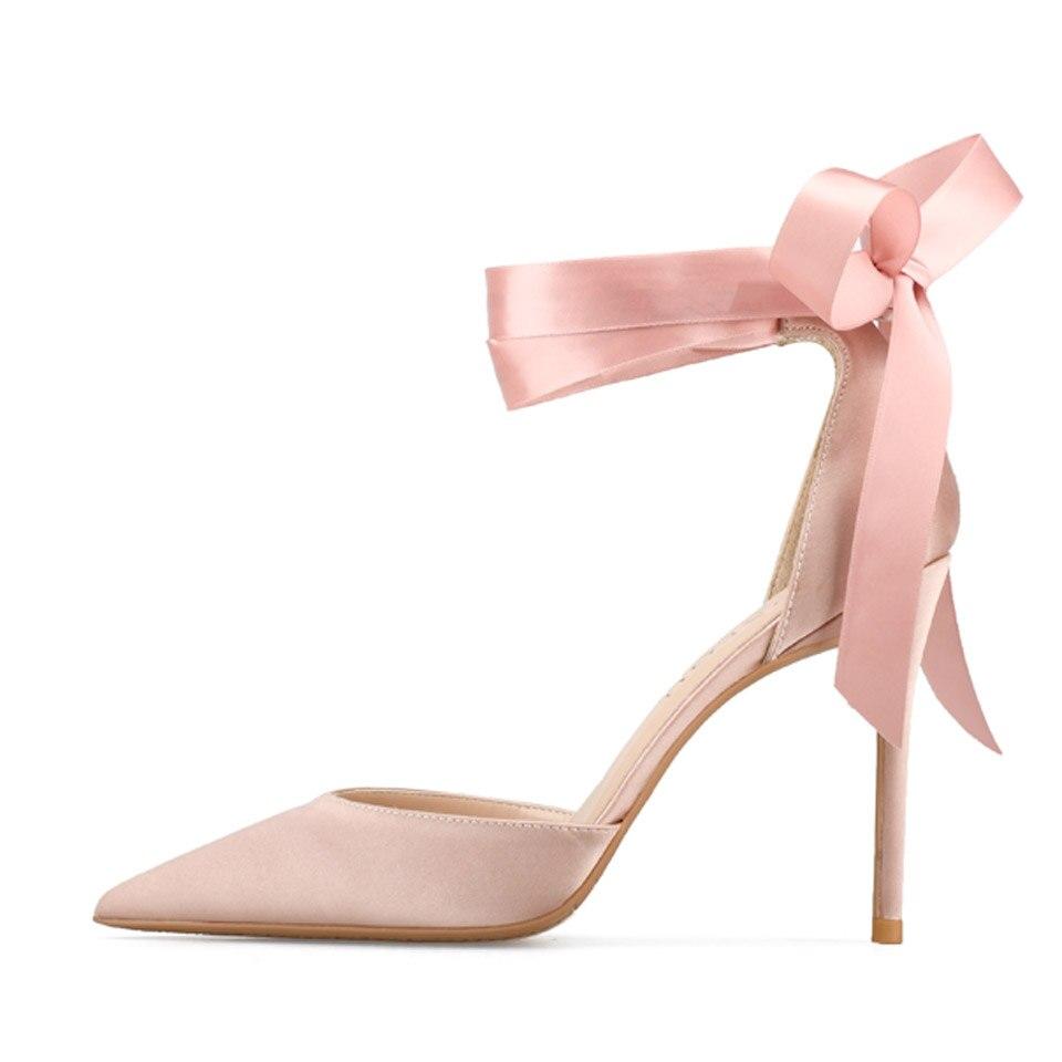 Soirée Pointu Lacent Wrap Stilettos Chaussures Cheville Ruban Kmeioo Mariage Talons Bout Femme black Pink pink D'été Hauts Femmes Sandales Pompes De q8p7nwPwAX