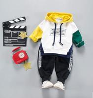 Hooded Sweatshirt Pant 2Pcs Set 2018 Spring Costume For Kids Boys Cotton Clothes For 1 2