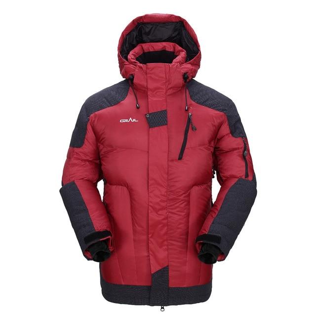 GRAIL Outdoor Heavy Down Jacket Winter Multifunctional Coat Mens ...