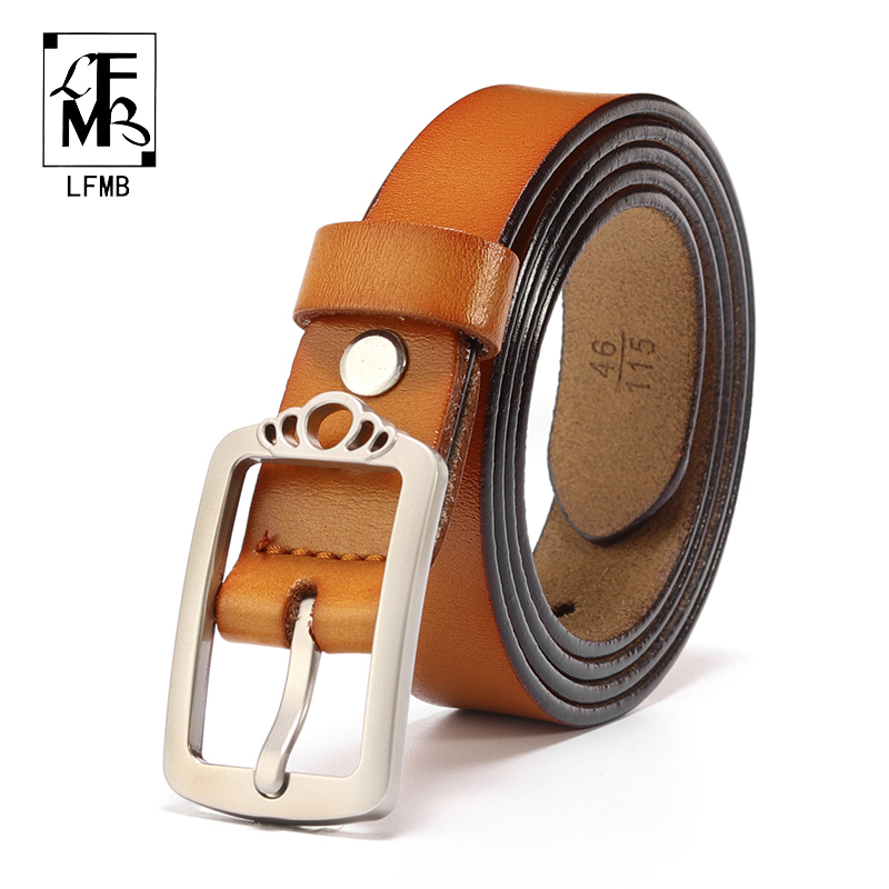 [LFMB]women genuine leather fashion all-match belt Leather women belt famale cowhide leather Pin buckle waistband belts
