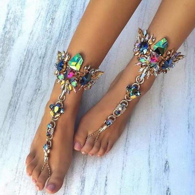 1Pcsset New Fashion Ankle Bracelet Wedding Barefoot Sandals Beach