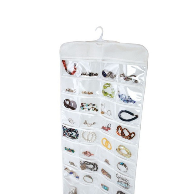 New Arrive 72 Pockets Hanging Jewelry Organizer Gadgets Ring