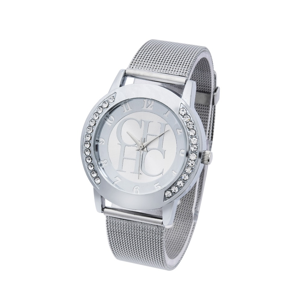 New Famous Brand Gold Bear Metal Mesh Stainless Casual Quartz Watch Women Crystal Dress Watches Relogio Feminino Clock Hot Sale 2016 new brand gold crystal casual quartz watch women stainless steel dress watches relogio feminino female clock hot 77