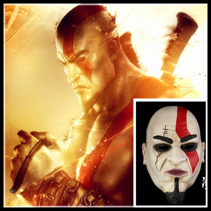 New Desin Party Cosplay Game God Of War Collection Resin Mask Scary Halloween Props Party Cosplay Horror Mask Home Decor Helmet