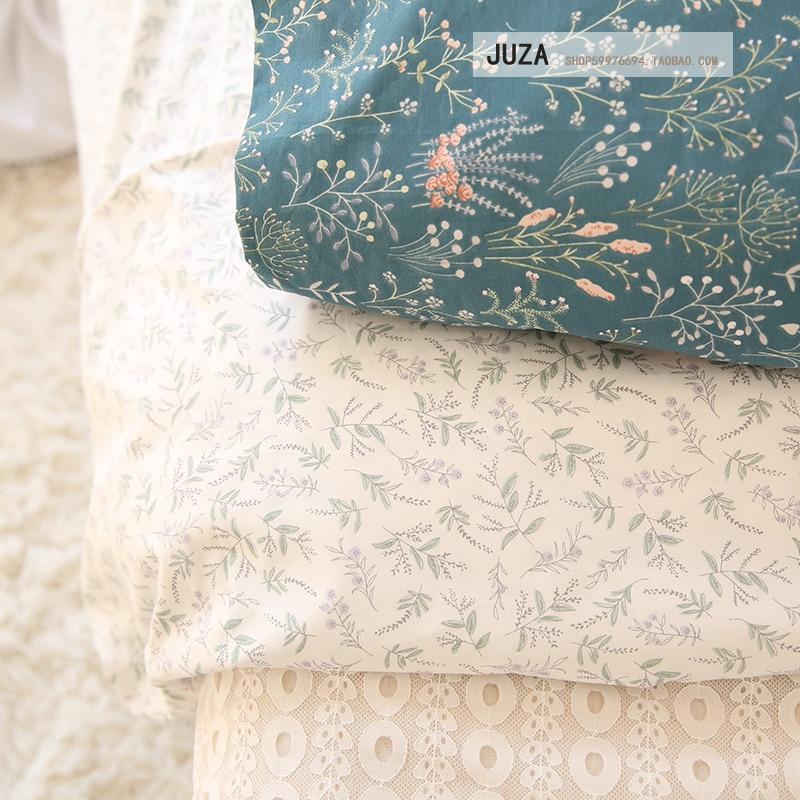 Nordic Idyllic Cotton Twill Shredded Flower Sheets Quilt Bed Li Handmade Bedding Cotton Fabric