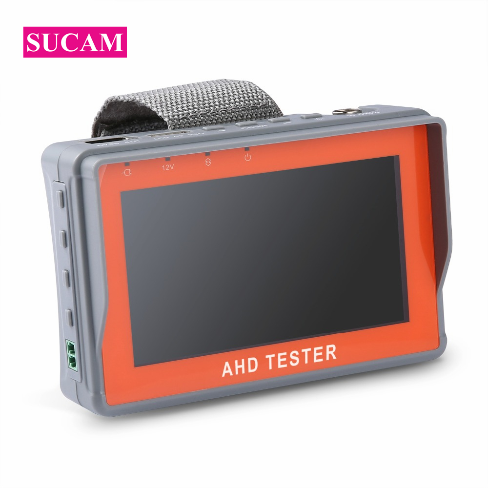 SUCAM 1080P AHD CCTV Tester 4.3 Inch Screen Monitor for AHD Camera Testing PTZ UTP Cable Tester 12V1A Output sannce ahd cctv tester monitor 4 3 inch hd 1080p analog camera ptz utp cable tester 12v1a output for home security