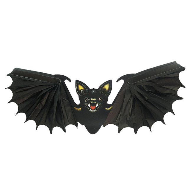 Decoration Cosplay Bat Toys Prop Foldable Black Bats Party Supplies Garden Bar Decor Helloween Decoracion