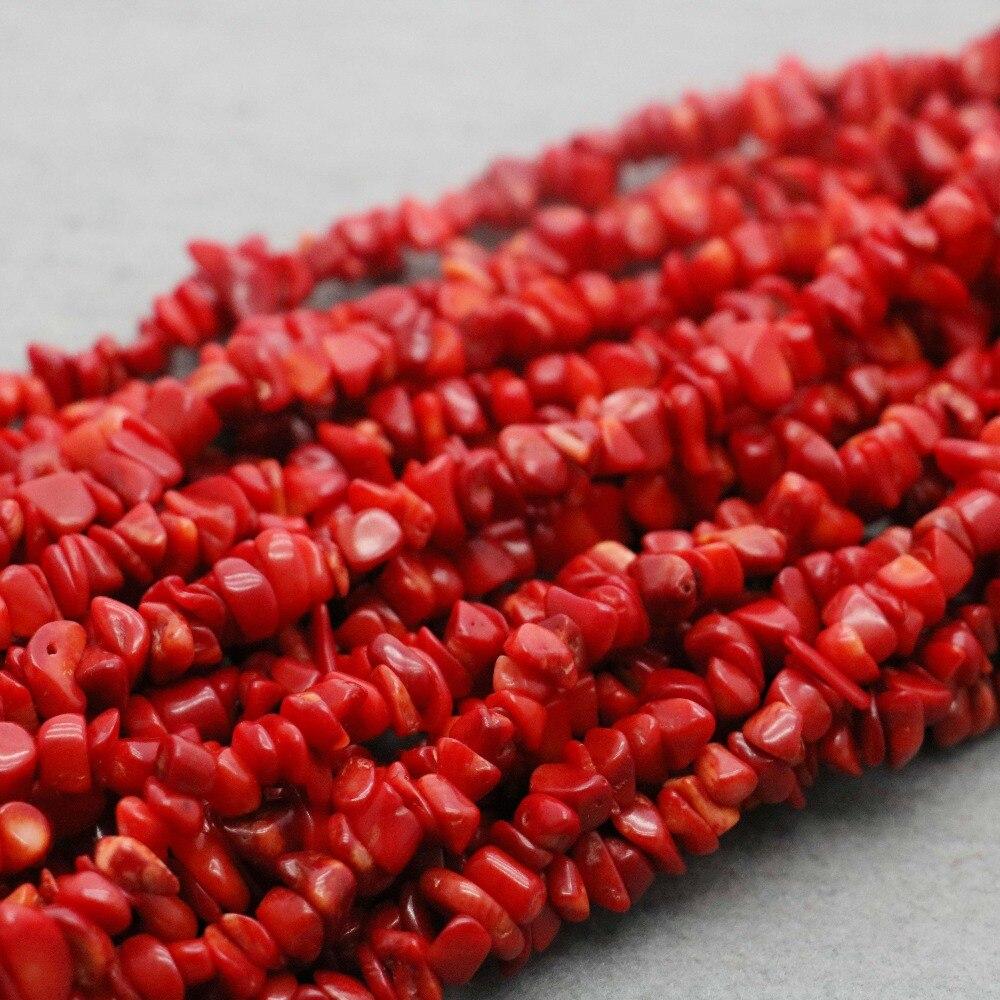 Red Natural Stones : Cm natural stones irregular red imi coral broken beads