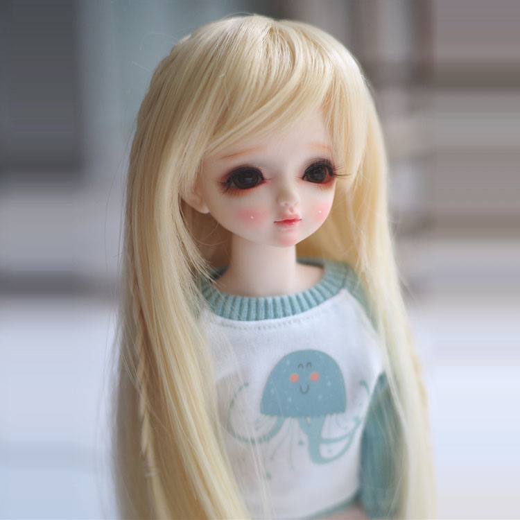 Newest 1/3 1/4 1/6 Bjd SD Doll Wig Wire Light Blonde Colors High Temperature BJD Super Dollfile For Doll Hair Wig аксессуары для детей