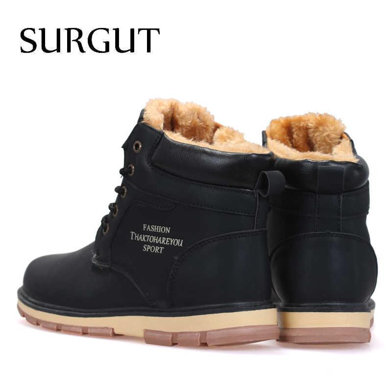 822d955101d2 Сургут бренд Лидер продаж Новые теплые мужские зимние сапоги высокого  качества ...
