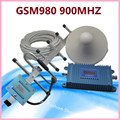 Set GSM 900 MHz 900MHz Repeater LCD Display Cell Phone Signal Booster 10M cable and outdoor antenna