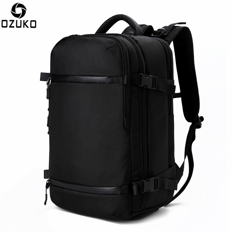 Ozuko Usb Backpack Men Travel Pack Bag Male Luggage Business Rucksack Large Capacity Waterproof Laptop Backpack With Shoes Bag