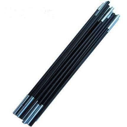 2PCS * 3.6Meters / Pair Černý stánkový pól 7-9 Sekací / PC Stolky Fiber Glass Rod pro 1-3 osoby Stany Příslušenství pro kempování W / Rubber Band
