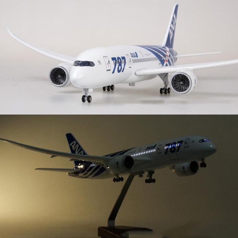1/130 échelle 47 cm avion Boeing B787 Dreamliner avion japon ANA modèle de la compagnie aérienne W lumière et roue moulé sous pression en plastique résine avion