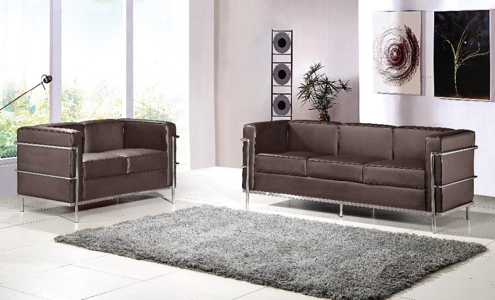 U BEST Le Corbusier LC2 Sitzgruppe 2 Sitzer 3 Sofa Set