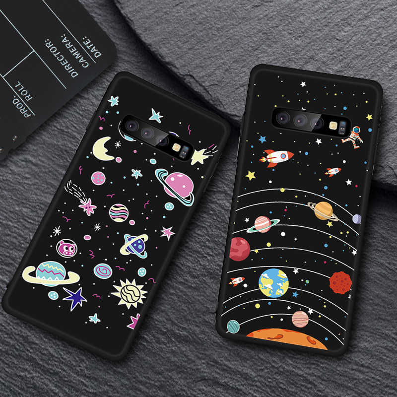 TPU Pattern Case For Samsung Galaxy S10 Plus S10e S9 S8 Plus Note 9 8 A9S A8S A6S A9 A8 Plus 2018 Black TPU Phone Cases