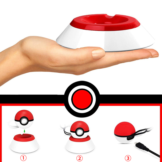 Nintend Switch NS Pokeball Eevee Controller Charging Dock Station, Poke Ball Plus Charger Stand Holder for Nintendo Switch Game 1