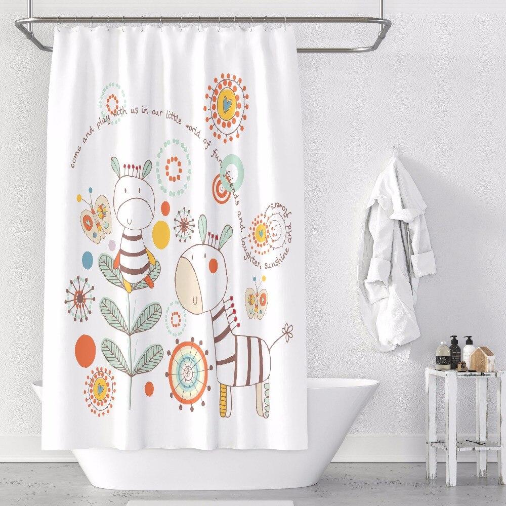 Rideau de douche sur mesure salle de bain rideau cloison + crochets 1.2/1.5/1.8/2x1.8 m 1.5x2 m 1.8x2 m 2x2 m 2.4x2 m blanc