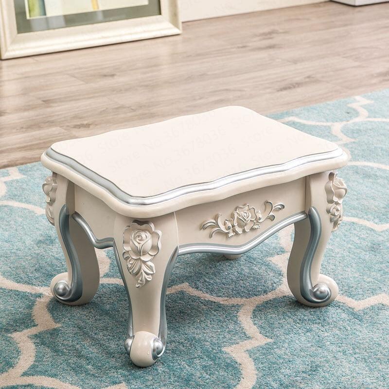 Европейский небольшой стенд роскошный журнальный столик табурет для дома, сидение цвета слоновой кости, белая жесткая поверхность, прямоугольный милый стул для балкона|Табуреты и пуфики|   | АлиЭкспресс