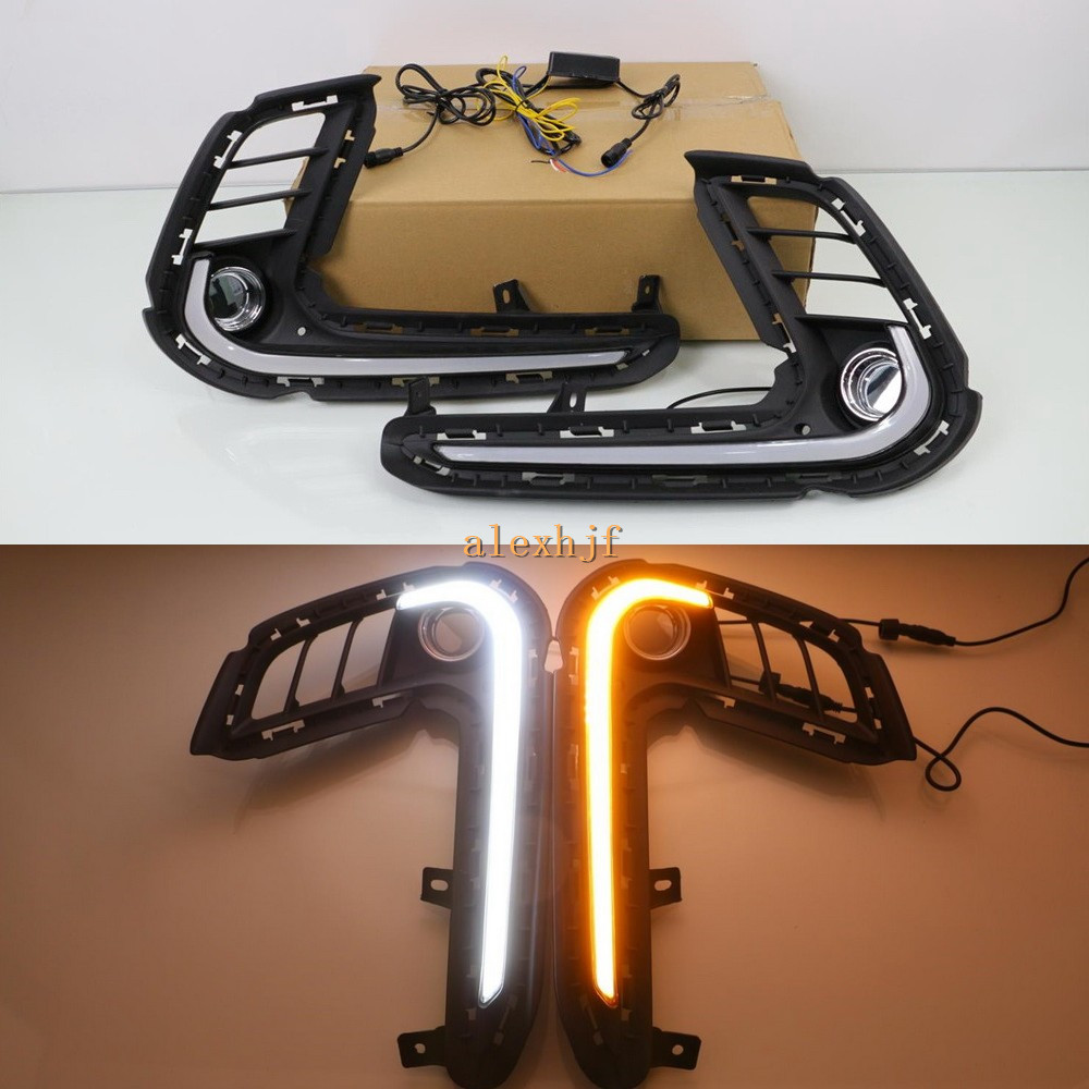 July King LED Light Guide Daytime Running Lights Case for Hyundai Elantra 2017+, LED Front Bumper DRL, 1 Set/lot, Fast Shipping july king led daytime running lights drl case for honda crv cr v 2015 2016 led front bumper drl 1 1 replacement