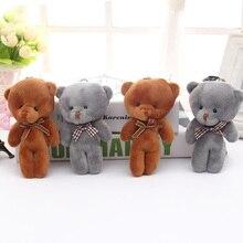 1PC 12CM Mini Teddy Bear Plush Toys Soft Stuffed Animal Doll Cartoon Bear Toys For Children Gift