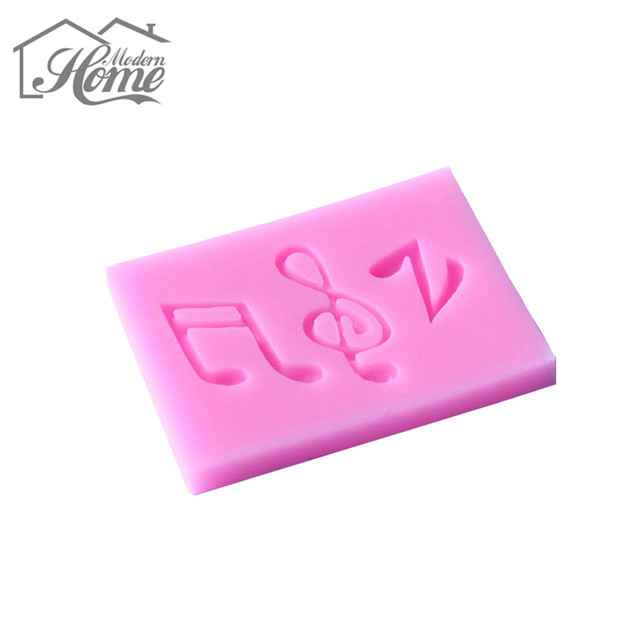 Music Notes Syncopated Sixteenth Note 3D Silicone Cake Mold  Fondant Sugarcraft Cake Decorating Baking Tools DIY