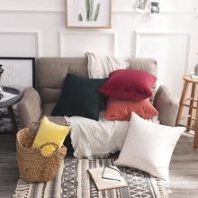 Fashion Pure White Soft Throw Pillow Covers Cushion Case Decorative Pillow Case Plain Pillowcases Decorative Pillows 1Pcs Soft