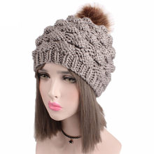 a92ca66cce9 desire 35  New Creative Explosion Fashion Hot Sale Women Ladies Retro Winter  Knitting Hat Turban Brim Hat Cap Pile Cap