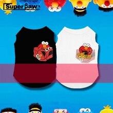 Tide Brand Sesame Street Summer T-shirt Corgi Schnauzer Vest Pet Clothes Dogs Pets Clothing Cat Dog Apparel Pug Costume GZC21